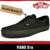 バンズ スニーカー メンズ レディース エラ ブラック/ブラック VANS ERA BLACK/BLACK QFKBKA