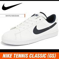 ナイキスニーカーテニスクラシック(GS)ホワイト/ネイビー719448-102NIKETENNISCLASSIC(GS)