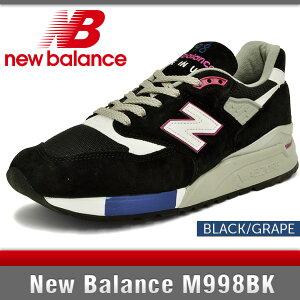 ニューバランスM998BKブラックDワイズNewBalanceBlack