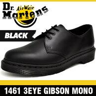 ドクターマーチンブーツメンズレディース14613アイ(3ホール)ギブソンモノブラックDr.Martens3EYE(3HOLE)GIBSONMONOBLACK14345001