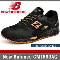 ニューバランススニーカーメンズCM1600AGブラック/ブロンズDワイズNewBalanceBLACK/BRONZE