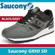 【マラソン 期間限定価格】サッカニー スニーカー メンズ グリッド SD ブラック/グレー Saucony GRID SD BLACK/GREY S70217-3