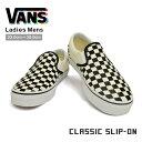 VANS バンズ スリッポン スニーカー メンズ レディース チェック ブラック ホワイト CLASSIC SLIP-ON VN000EYE