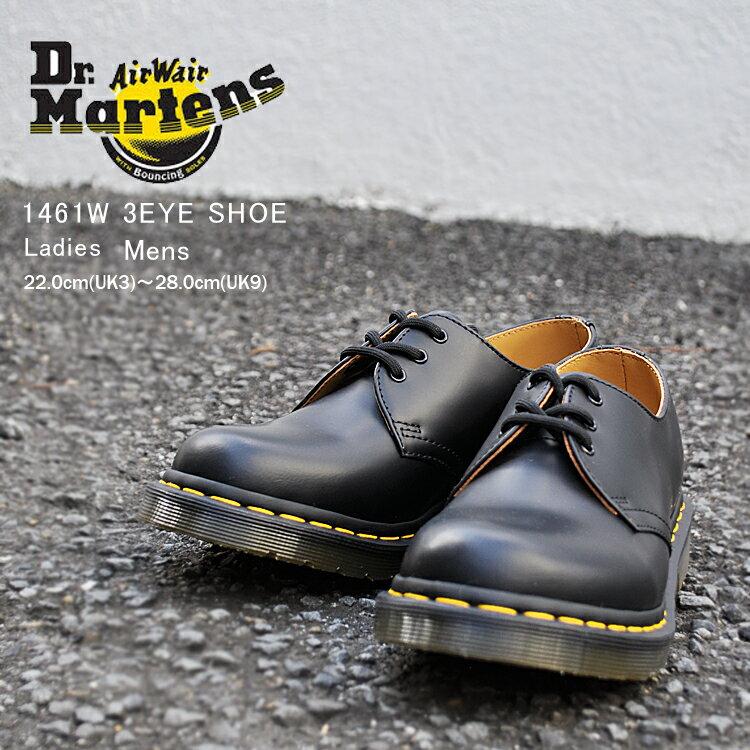 ドクターマーチン 3ホール レディース 1461W ギブソン ブラック Dr. Martens 1461 W 3HOLE SHOE BLACK 11837002画像