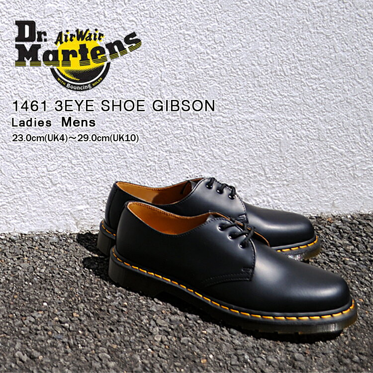 ブーツ, その他  3 1461 Dr. Martens 1461 3HOLE GIBSON BLACK 11838002