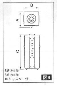 電圧ボルトスライダー 三相380V→三相0〜440V/0.66kVA SS3P-440-1
