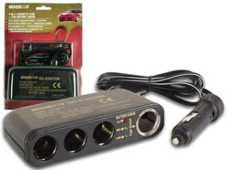 Three-pronged socket for car-in-1