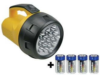16 LED powered torch