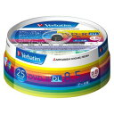 三菱化学メディア Verbatim製 データ用DVD-R DL 片面2層 8.5GB 2-8倍速 ワイド印刷エリア スピンドルケース入り 25枚 DHR85HP25V1