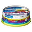 三菱化学メディア Verbatim製 データ用DVD+R DL 片面2層 8.5GB 2.4-8倍速 ワイド印刷エリア スピンドルケース入り 25枚 DTR85HP25V1