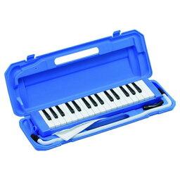 KC 鍵盤ハーモニカ メロディピアノ 32鍵 ブルー P3001-32K/BL (ドレミ表記シール・クロス・お名前シール付き) 4534853802253