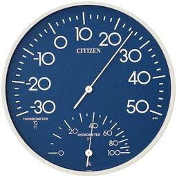 リズム時計 シチズン 温度・湿度計 TM-108(ブルー) 9CZ056-004