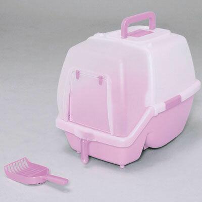 アイリスオーヤマ 掃除のしやすいネコトイレ SSN-530 ミルキーピンク 4905009993024