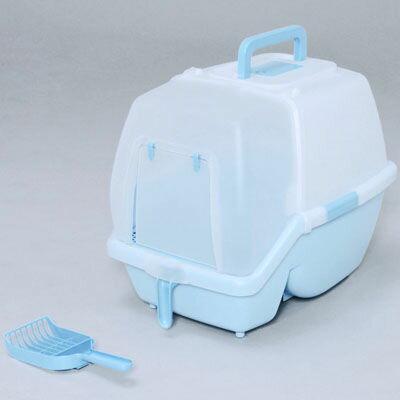 アイリスオーヤマ 掃除のしやすいネコトイレ SSN-530 ミルキーブルー 4905009993031