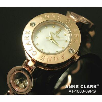アンクラーク 天然1Pダイヤモンド ムービングカラーストン レディース ブレスウォッチ AT1008-09PG