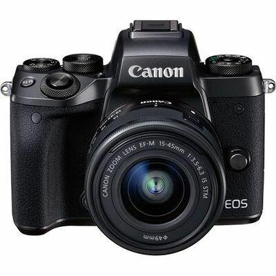 キヤノン ミラーレスカメラ EOS M5・EF-M15-45 IS STMレンズキット ブラック EOSM5-1545ISSTMLK【納期目安:3週間】