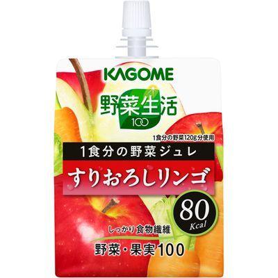 カゴメ 【ケース販売】カゴメ 野菜生活100 ジュレ すりおろしリンゴ 180g×30本 E324871H