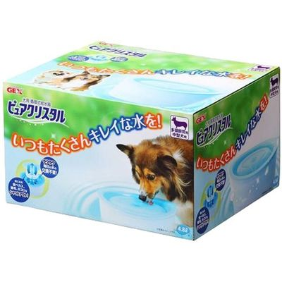 GEX(ジェックス) ジェックス 犬用循環式給水器 ピュアクリスタル 多頭飼育用・中型犬用 E305458H【納期目安:1週間】