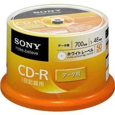ソニー 1~48倍速対応 データ用CD-Rメディア 700MB・50枚 50CDQ80GPWP