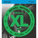 DADDARIO ベース弦 ニッケル Long Scale .040-.095 EXL220 【国内正規品】 0019954151225