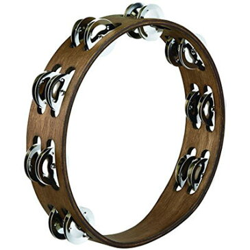 MEINL TA2WB Traditional Wood Tambourines, Stainless Steel Jingles 2 row 0840553083354