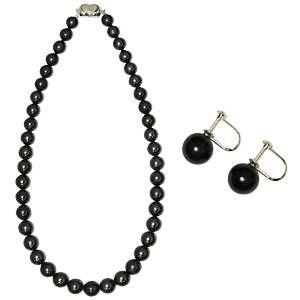 その他 【鑑別付】タヒチ産真珠 T-1 8〜10mm ネックレス+イヤリングセット(ケース付) ds-451919:爆安!家電のでん太郎
