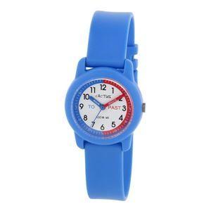 その他 CACTUS(カクタス) キッズ腕時計 ティーチングウォッチ ブルー CAC-69-M03 ホワイト×ブルー ds-988919