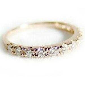 その他 ダイヤモンド リング ハーフエタニティ 0.5ct 13号 K18 ピンクゴールド ハーフエタニティリング 指輪 ds-1238497