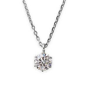 その他 【鑑定書付】 ダイヤモンドペンダント/ネックレス 一粒 プラチナ Pt900 0.4ct ダイヤネックレス 6本爪 Hカラー I1クラス Good 中央宝石研究所ソーティング済み ds-1343580:爆安!家電のでん太郎