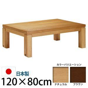 その他 キャスター付きこたつ  【トリニティ】  120×80cm こたつ テーブル 4尺長方形 日本製 国産ローテーブル ブラウン 【代引不可】 ds-1204587
