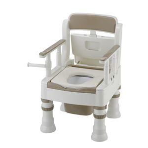 その他 リッチェル 樹脂製ポータブルトイレ ポータブルトイレきらくミニでか(1)MS型アイボリー 45601 ds-1550407