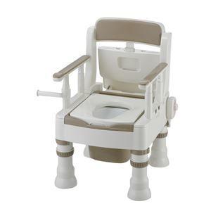 その他 リッチェル 樹脂製ポータブルトイレ ポータブルトイレきらくミニでか(5)MH型アイボリー 45621 ds-1550415