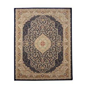 その他 トルコ製 ウィルトン織り カーペット 『ベルミラ RUG』 ネイビー 約240×240cm ds-1725503:爆安!家電のでん太郎