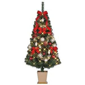 その他 クリスマスツリー 【シャンパンレッド】 150cmサイズ 四角ポット付き 『セットツリー』 〔イベント パーティー〕 ds-1874614