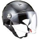 その他 リード工業 (LEAD) シールド付ハーフヘルメット RE41 ブラック LL ds-1948350
