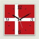 その他 壁掛け時計/デザインクロック 【デンマーク国旗】 30cm角 アクリル素材 『MYCLO』 〔インテリア雑貨 贈り物 什器〕 ds-1993432
