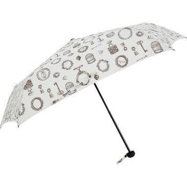 ディズニー 折りたたみ傘 日傘/晴雨兼用 シンデレラ/アンティークオブジェ 5本骨 55cm FF-02780