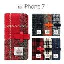 その他 SLG Design iPhone 8/7 Harris Tweed Diary ブラック ds-2199393 1