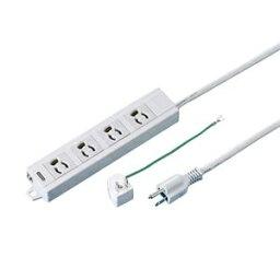 その他 (まとめ) TANOSEE OAタップ 抜け止め 通電ランプ・マグネット付 3P・4個口 1.0m 1個 【×5セット】 ds-2220873