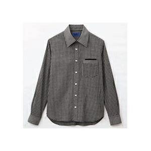 その他 (まとめ) セロリー 大柄ギンガムチェック長袖シャツ Sサイズ ブラック S-63410-S 1枚 【×5セット】 ds-2221848
