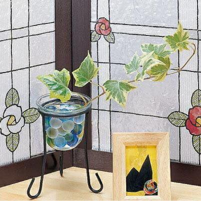 產品詳細資料,日本Yahoo代標|日本代購|日本批發-ibuy99|室內家具、收納|室內裝飾品、擺設|其他|その他 GLS-9259 窓飾りシート(ステンドタイプ) 92cm丈×90cm巻 レッド CMLF…