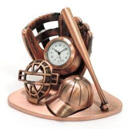 ミニチュア置時計 野球 ベースボール ボール バット グローブ ヘルメット/MC-C3609-RCP ds-2387391