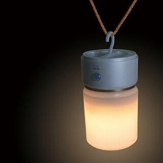 [6W電球色LED]もてなしライト(据置き型)HLH-1202(PW)/[乾電池式]人感&明暗センサーLEDナイトライト(足元灯)