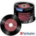 三菱化学メディア CD-R 700MB 1回記録用 48倍速 50枚入 レコードデザインレーベル SR80PH50V1