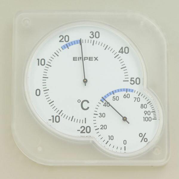 温湿度計 シュクレミディ クリアホワイト OS-01 (W) /エンペックス気象計