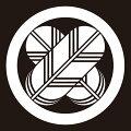 貼り紋丸に違い鷹羽(シールタイプ6枚1組)=着物、羽織、家紋、紋付=