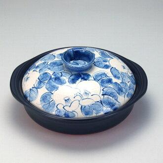 樂天超級銷售 Kutani 第八十八生日禮物 HED 號 9 IH 陶鍋與山茶