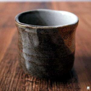 【九谷焼】湯呑金花詰専用木箱付き1個