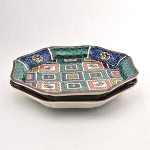 【九谷焼】お皿セット・石畳の図
