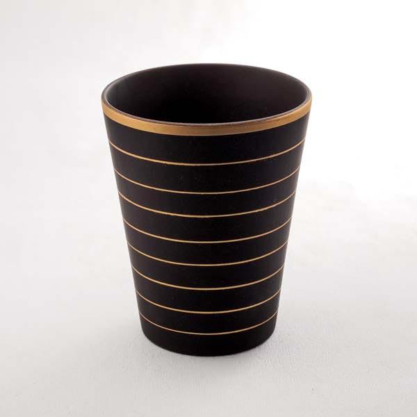 山中漆器 欅 しっとりカップ ブラウン(L)